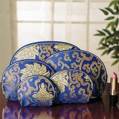 5-in-1 Satin Cosmetic Bags - 5 pc. Set