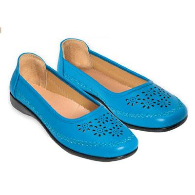 Pierced Blue Loafers