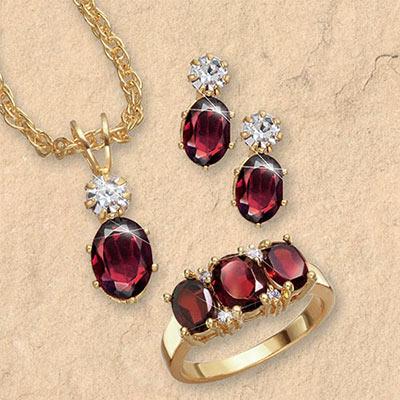 Garnet Jewelry Set