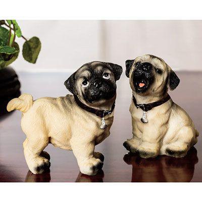 Playful Pug Figurines