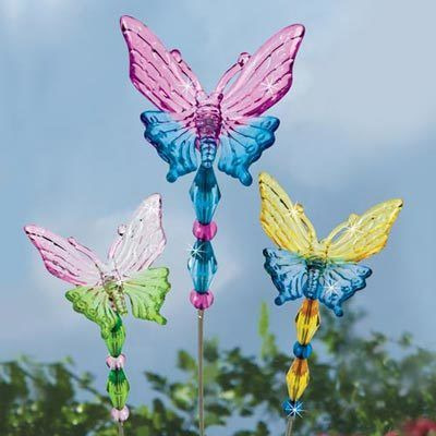 Mini Butterfly Plant Stake Set