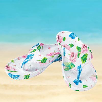 Blooming Garden Flip Flops