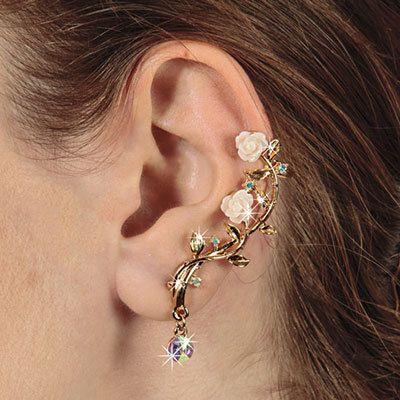 Rose Blossom Ear Cuff