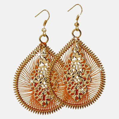 Sunset Medallion Dreamcatcher Earrings
