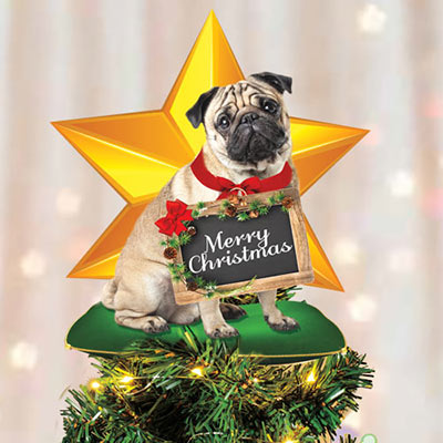 Best Friend Tree Topper - Pug