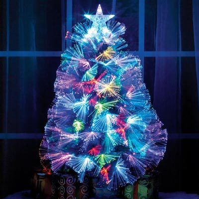 Tabletop Fiber Optic Christmas Tree - Tabletop Fiber Optic Christmas Tree The Paragon Catalog
