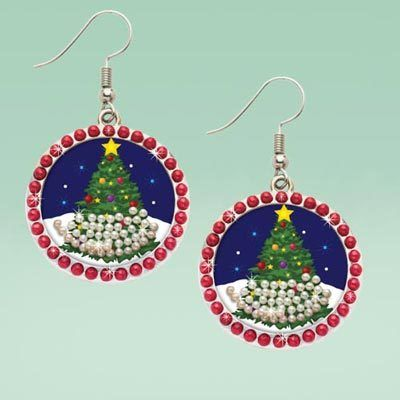 Snow Globe Earrings