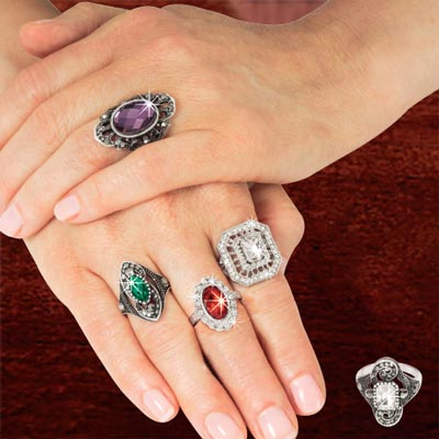 Ornate Ring Collection - Set of 5