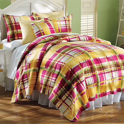 Fresh Plaid Fleece Blankets & Accessories