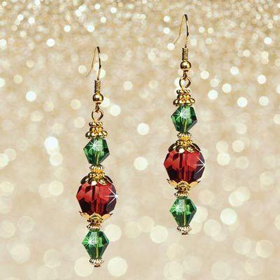 Holiday Crystal Earrings