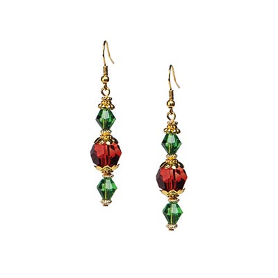 Holiday Crystal Earrings