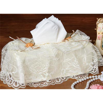 Lace Garden Tissue Box Cover