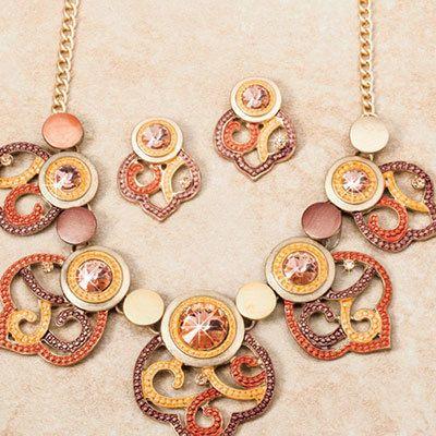 Bronze & Golden Jewelry Set