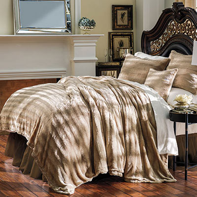 Luxury Faux Fur Bedding & Accessories