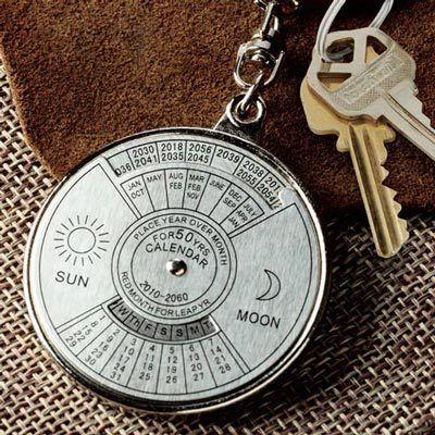Perpetual Calendar Key Ring