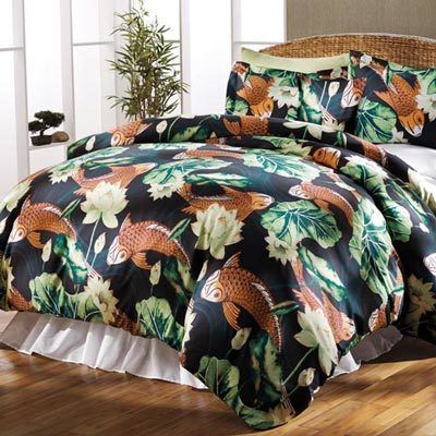 Koi Pond Duvet Set & Accessory