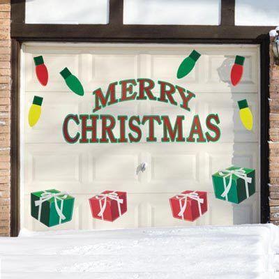 Christmas Garage Greetings Sign