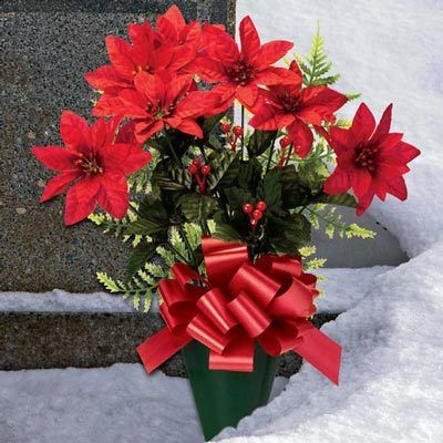 Poinsettia Memorial Bouquet