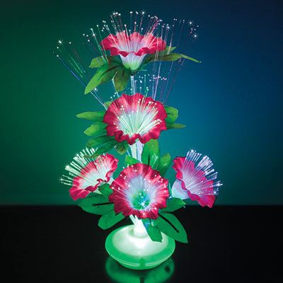 Fiber Optic Pink Flowers