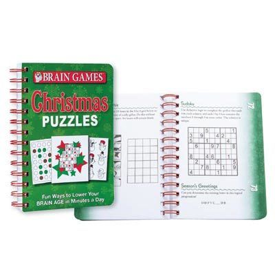 Brain Games Christmas Puzzles Book