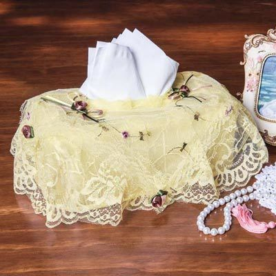 Victorian Lace Tissue Box Cover