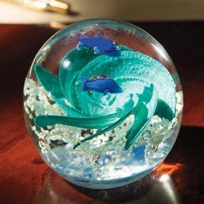 Ocean Swirl Glass Globe