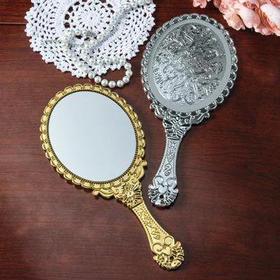 Silver Victorian Hand Mirror
