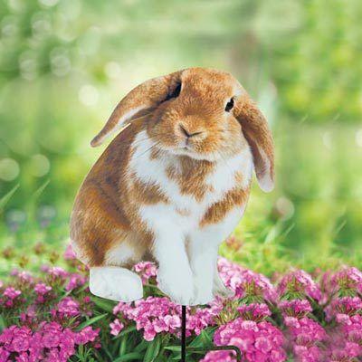 Fluffy Bunny Yard Stake
