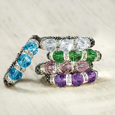Sparkling Crystal Rings