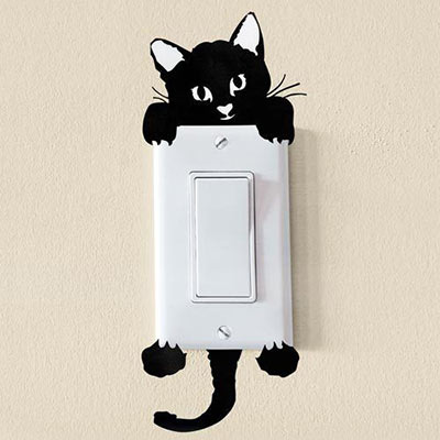 Peek-a-Boo Kitty Decal