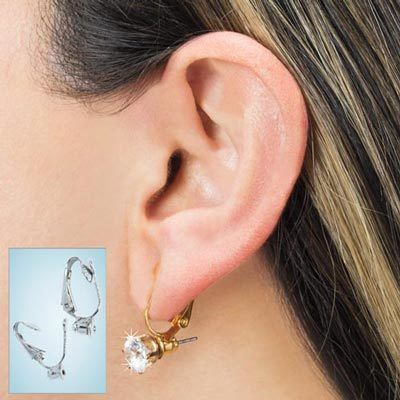 Silver-tone Oh-So-Easy Earring Converter