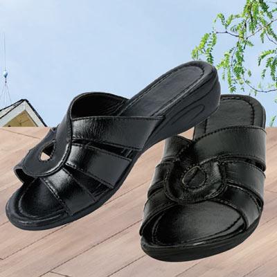 Black Infinity Sandals