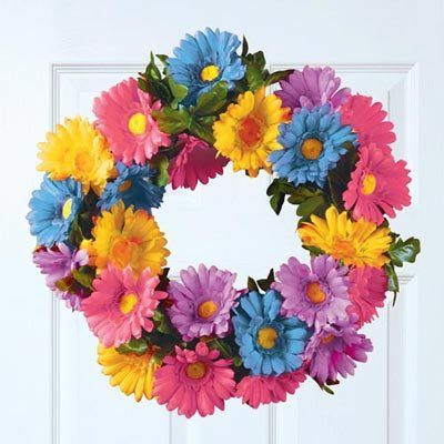 Pastel Daisy Wreath