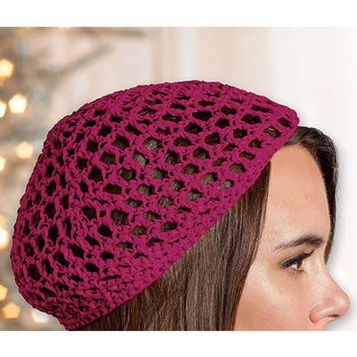 Burgundy Crocheted Hat