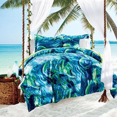 Tahitian Splash Duvet Set & Accessory