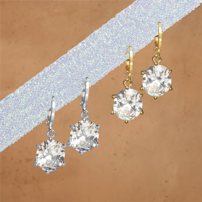 Dazzling Solitaire Earrings