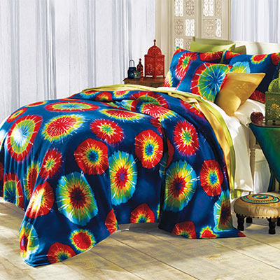 Tribeca Tie-Dyed Fleece Blankets & Accessories