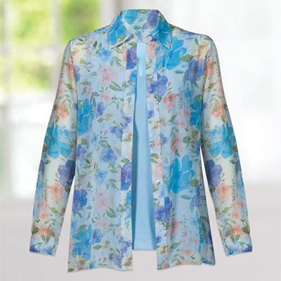 Floral Shirt & Tank Set