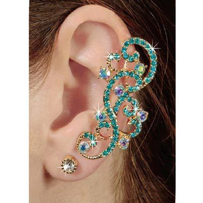 Scrolling Bling Ear Cuff