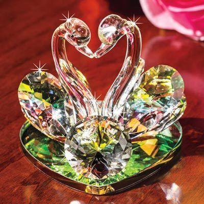 Swan Soulmate Crystal Figurine