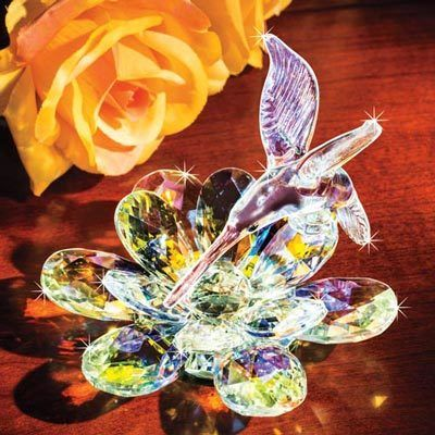 Hummingbird Dance Crystal Flower