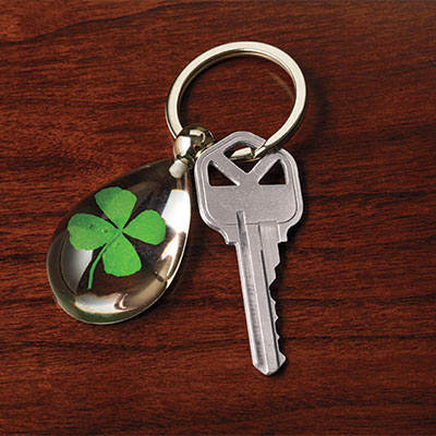 Lucky Clover Key Ring