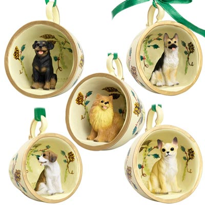 Dog Breed Teacup Ornament