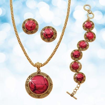 Carnelian Jewelry Set