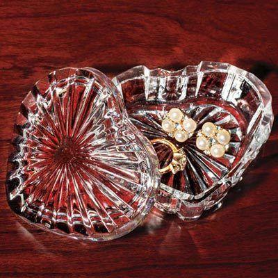 Crystal Heart Trinket Box