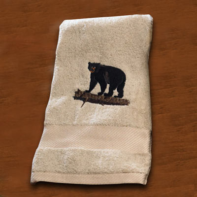 Wildlife Embroidered Towels - Bear