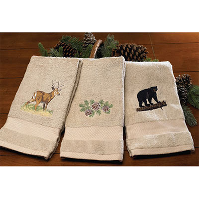 Wildlife Embroidered Towels - Deer