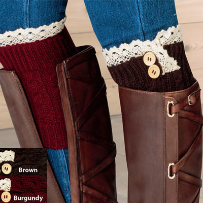Boot Cuffs - Set of 2 Pairs