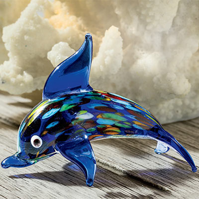 Art Glass Dolphin
