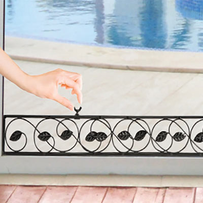 Decorative Leaves Sliding Door Lock